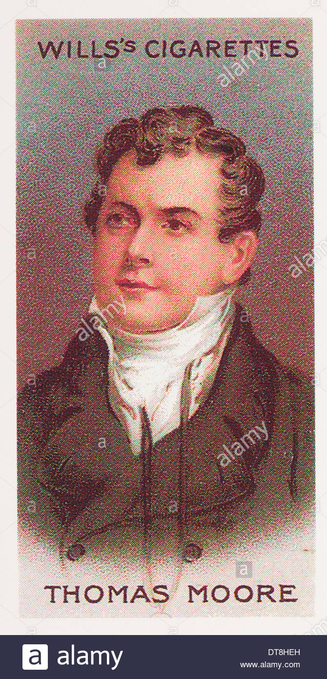 Wills Cigarette card second series Musical Celebrities, the poet, composer, singer Thomas Moore. EDITORIAL ONLY - Stock Image