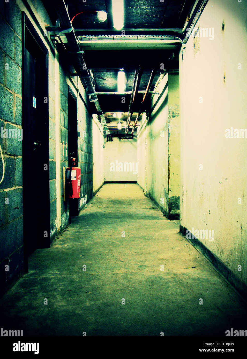 Office building basement - Stock Image