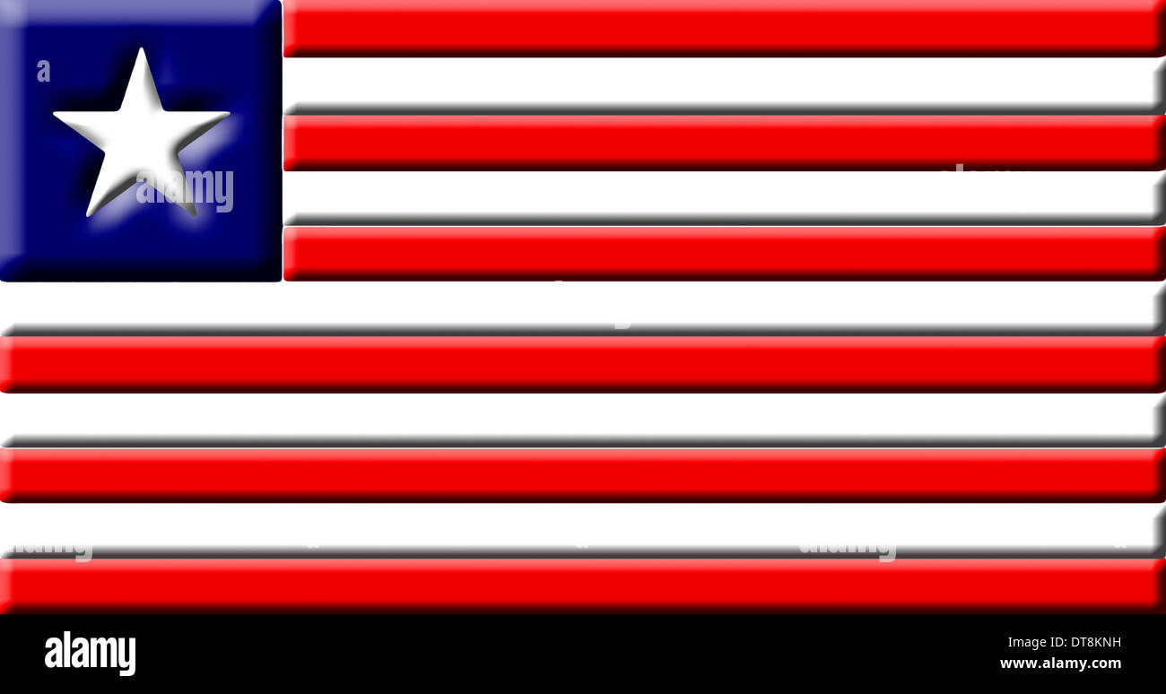 Liberia - national flag - Stock Image
