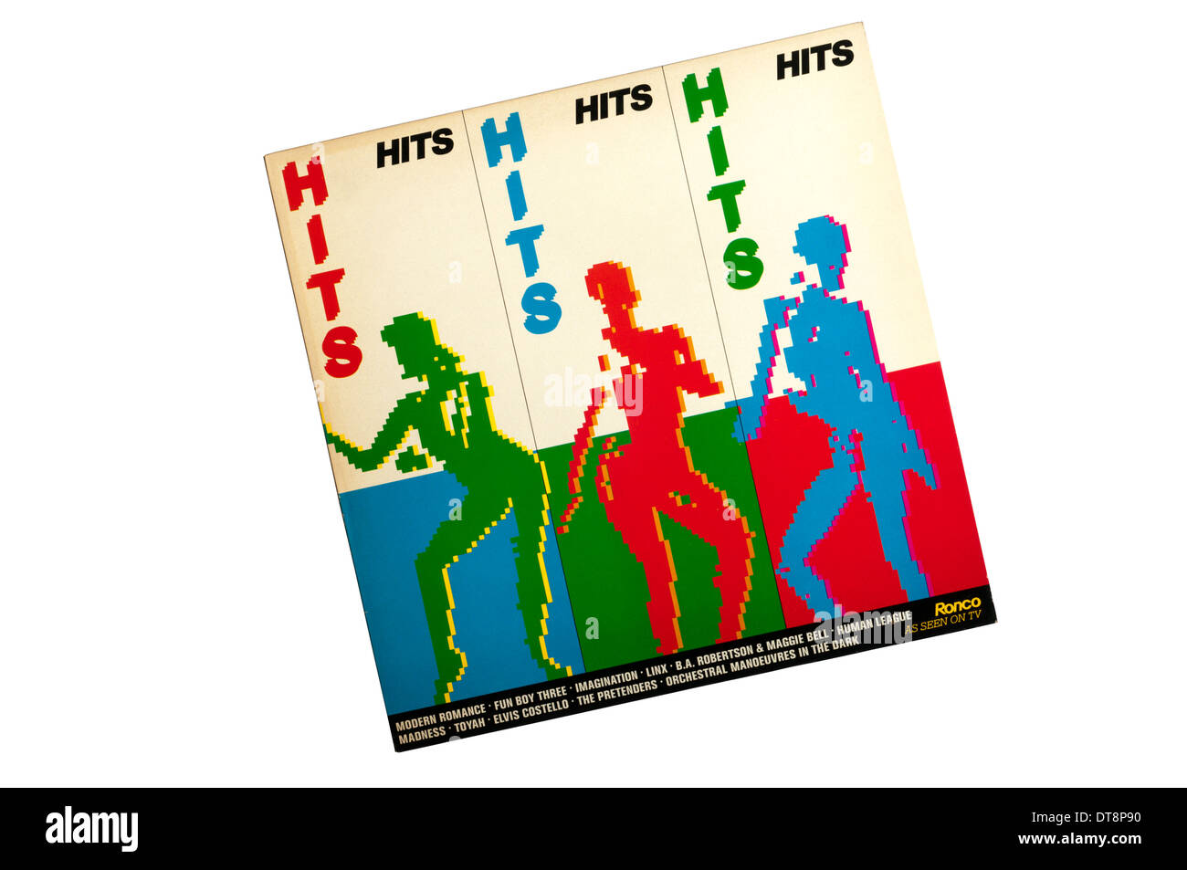 Hits Hits Hits compilation album released by Ronco in 1981. - Stock Image