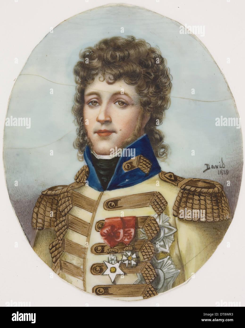 Portrait of Joachim Murat. Artist: Gérard, François Pascal Simon (1770-1837) - Stock Image
