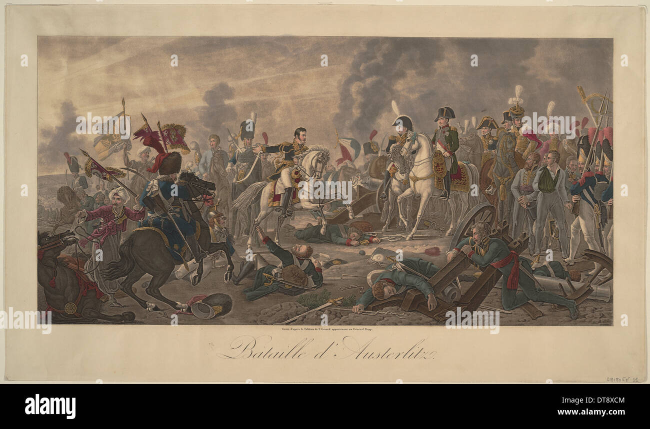 The Battle of Austerlitz on December 2, 1805. Artist: Gérard, François Pascal Simon (1770-1837) - Stock Image