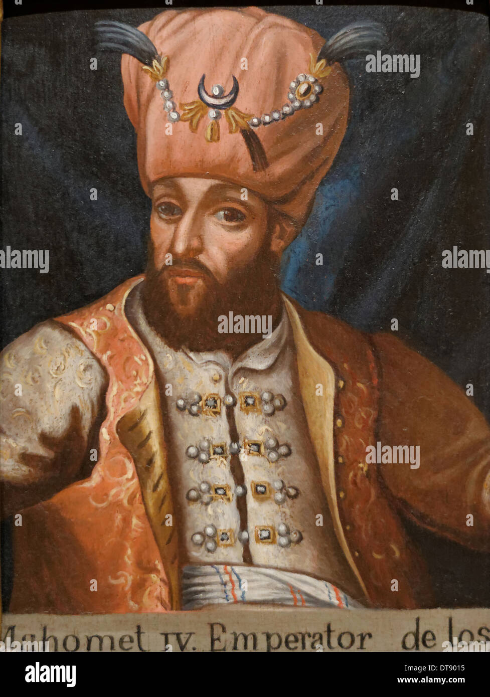 Mehmed IV (1642-1693), Sultan of the Ottoman Empire, 17th century. Artist: Anonymous - Stock Image