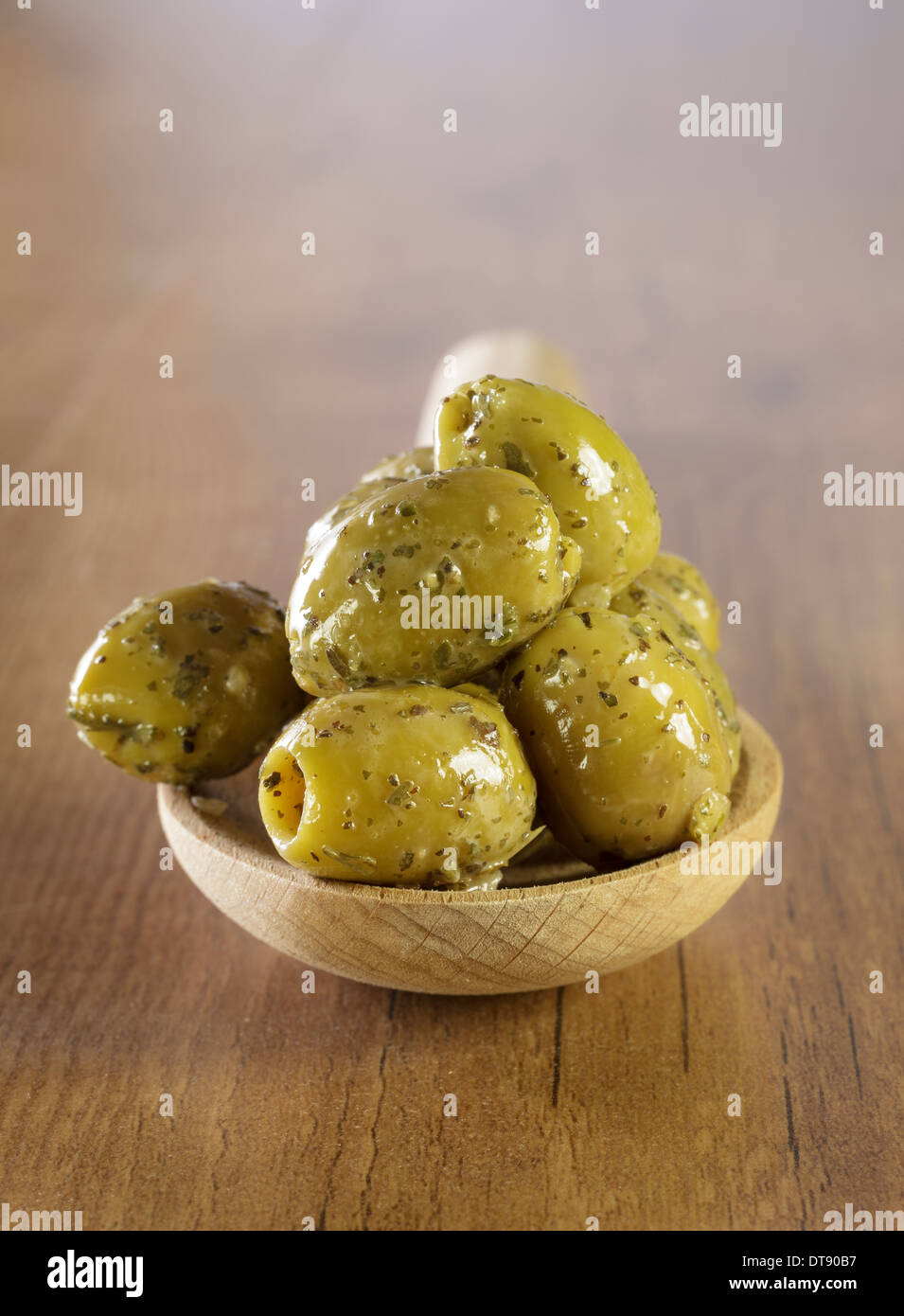 Green Olives - Stock Image