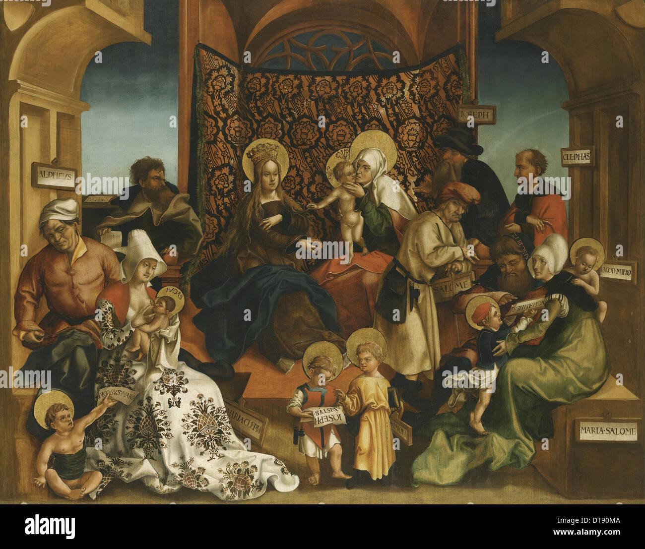 The Holy Kinship. Artist: Breu, Jörg, the Elder (1475-1537) - Stock Image