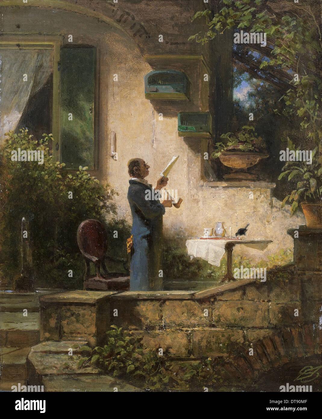 An important missive, 1870s. Artist: Spitzweg, Carl (1808-1885) - Stock Image