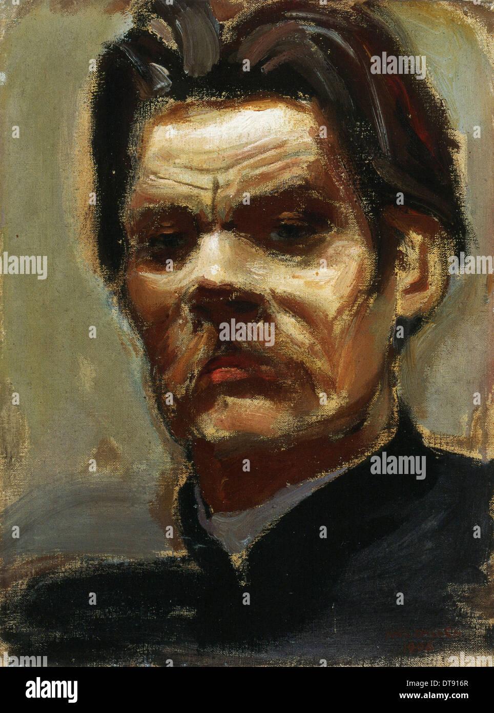 Portrait of the author Maxim Gorky (1868-1939), 1906. Artist: Gallen-Kallela, Akseli (1865-1931) - Stock Image