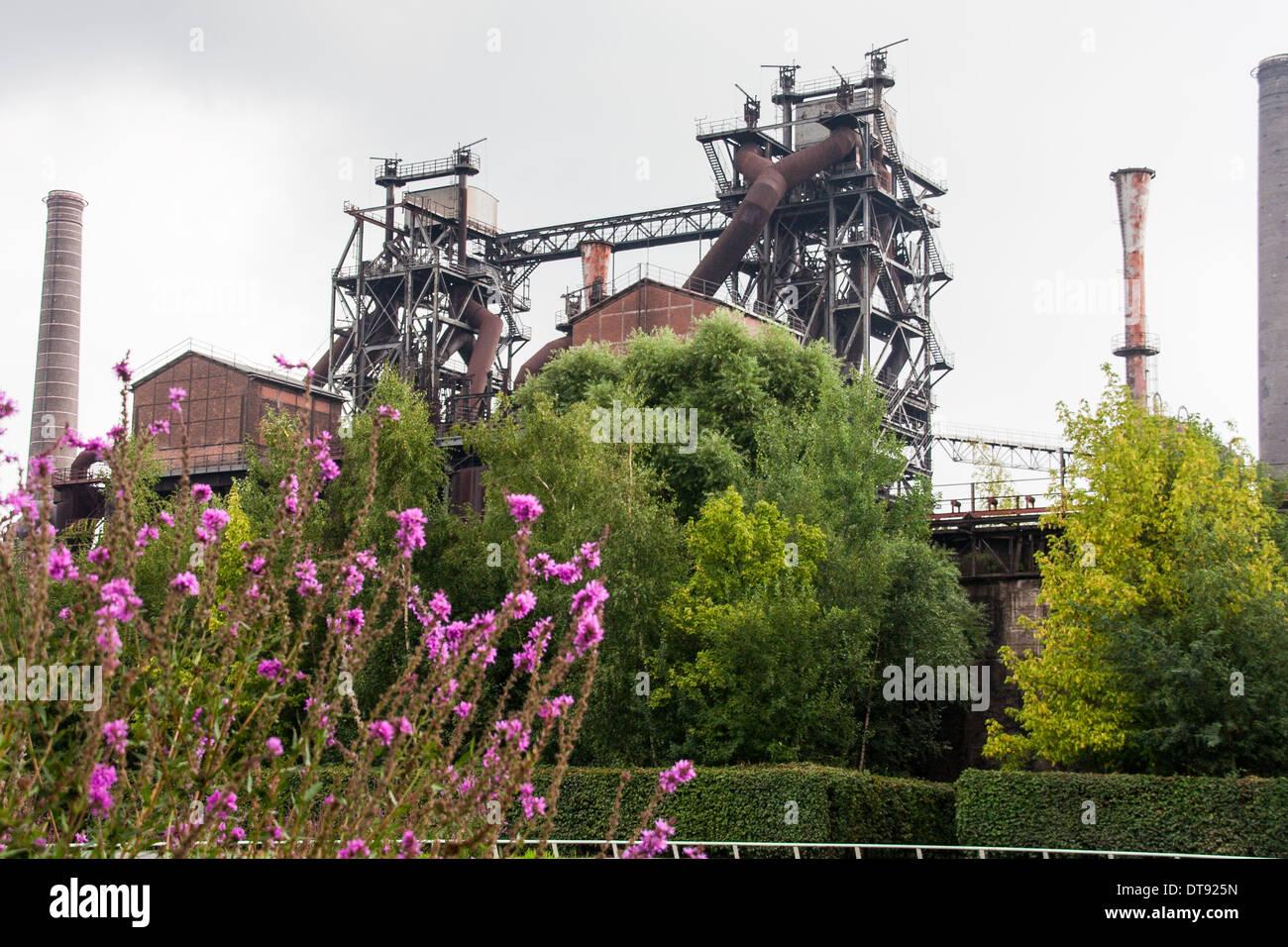 Landschaftpark Duisburg Nord industry and nature - Stock Image