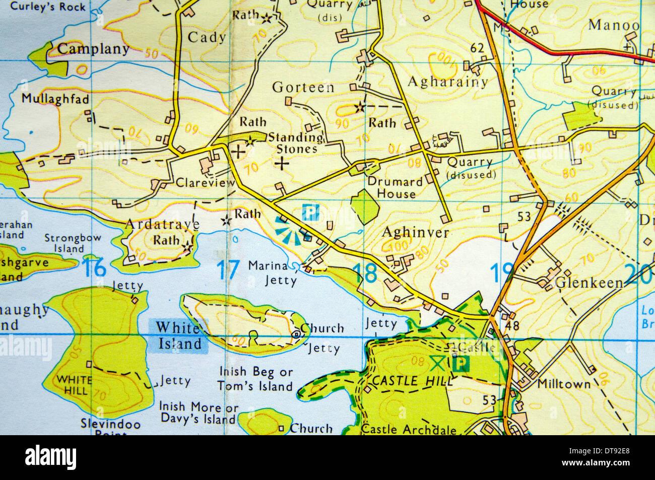 Os Map Of Ireland.Northern Os Stock Photos Northern Os Stock Images Alamy