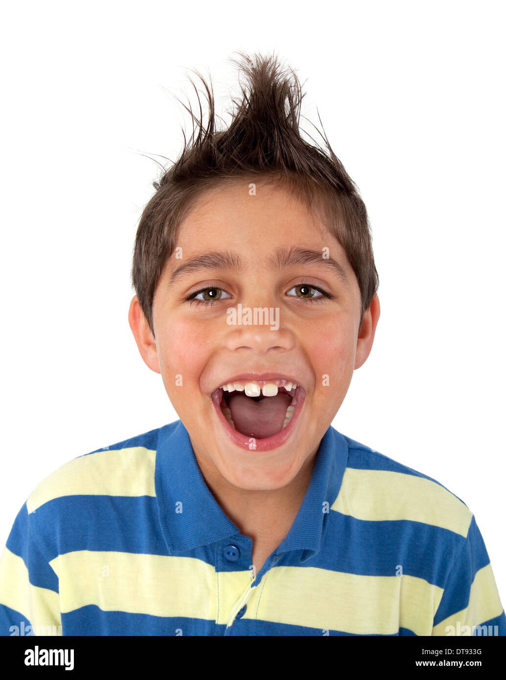young boy screaming stock photo 66582868 alamy