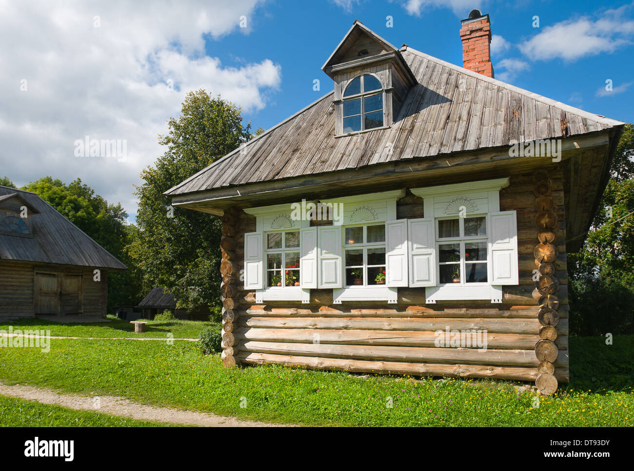 Complex household constructions to the museum-estate AV Suvorov in the village Konchanskoe-Suvorovskoe - Stock Image