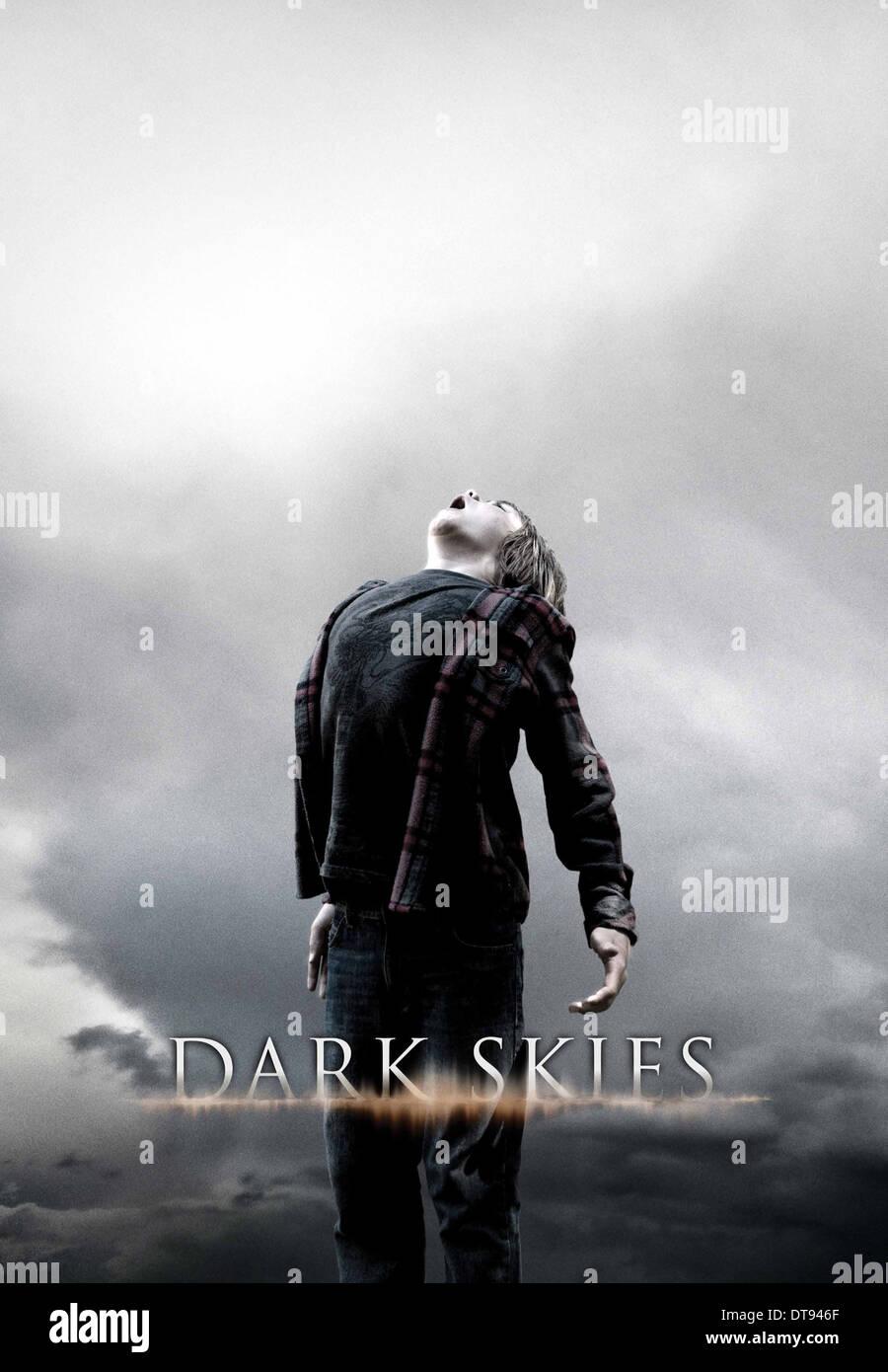 MOVIE POSTER DARK SKIES (2013) - Stock Image