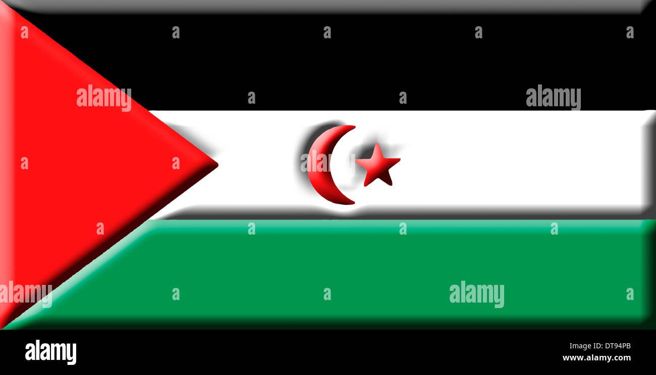 Sahrawi Arab Democratic Republic (SADR) [Western Sahara] - national flag - Stock Image