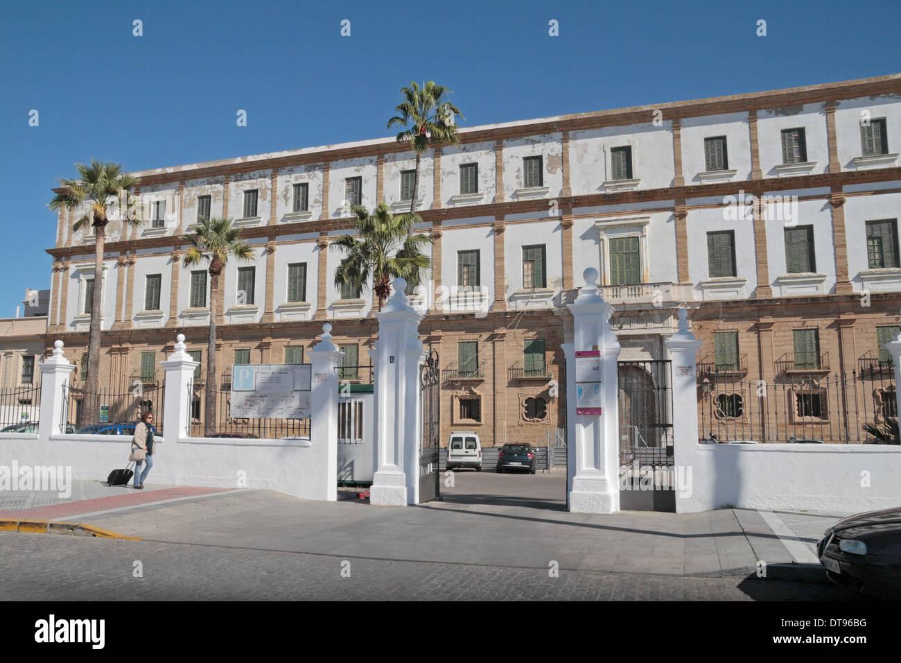 The former Hospice (Antiguo Hospicio) in Cadiz, Andalusia, Spain. - Stock Image