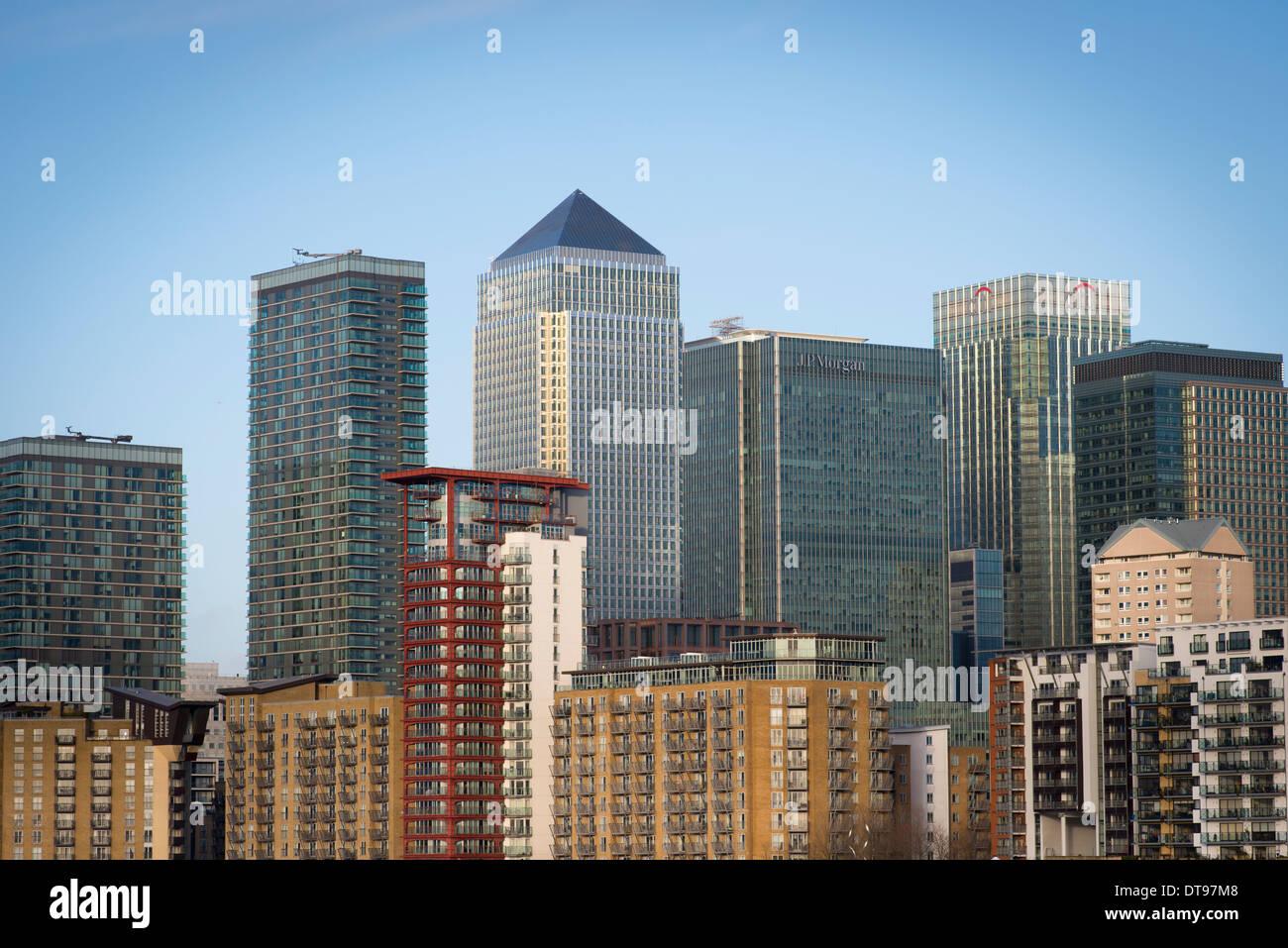 Canary Wharf, Isle of Dogs, London. - Stock Image