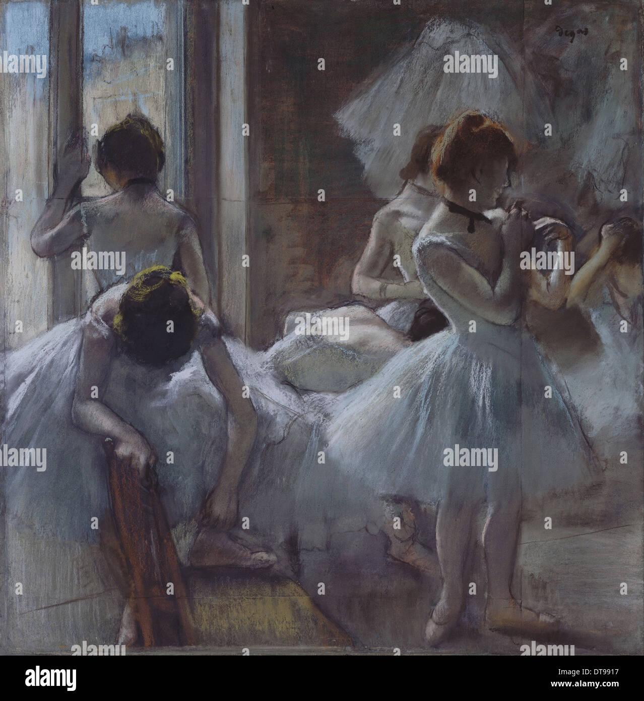 Dancers (Danseuses), 1884-1885. Artist: Degas, Edgar (1834-1917) - Stock Image