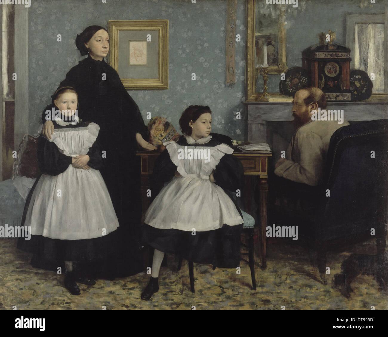 The Bellelli Family, 1858-1867. Artist: Degas, Edgar (1834-1917) - Stock Image