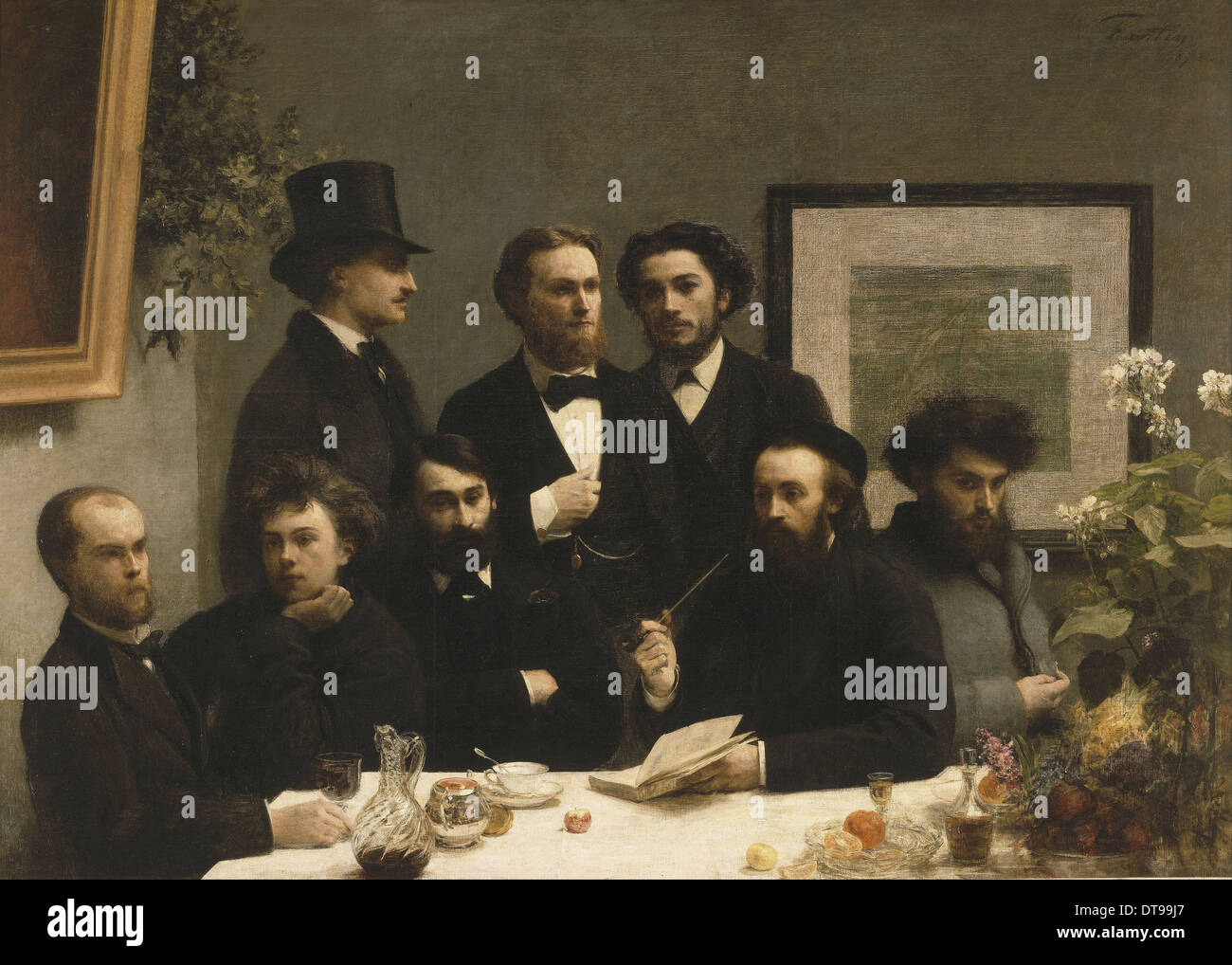 By the Table, 1872. Artist: Fantin-Latour, Henri (1836-1904) - Stock Image