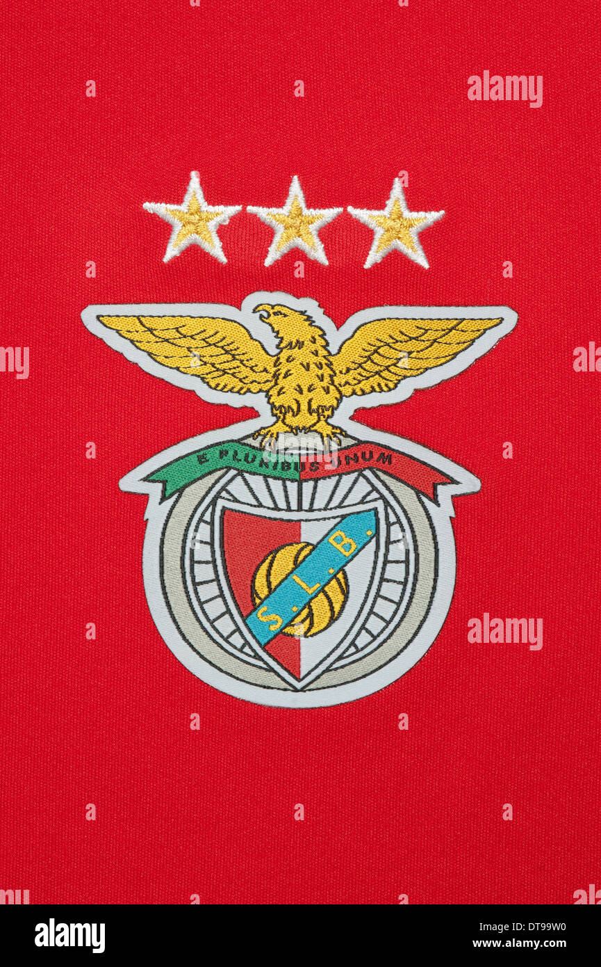 best sneakers 5a2e3 1e028 Close up of the S.L Benfica football team kit Stock Photo ...