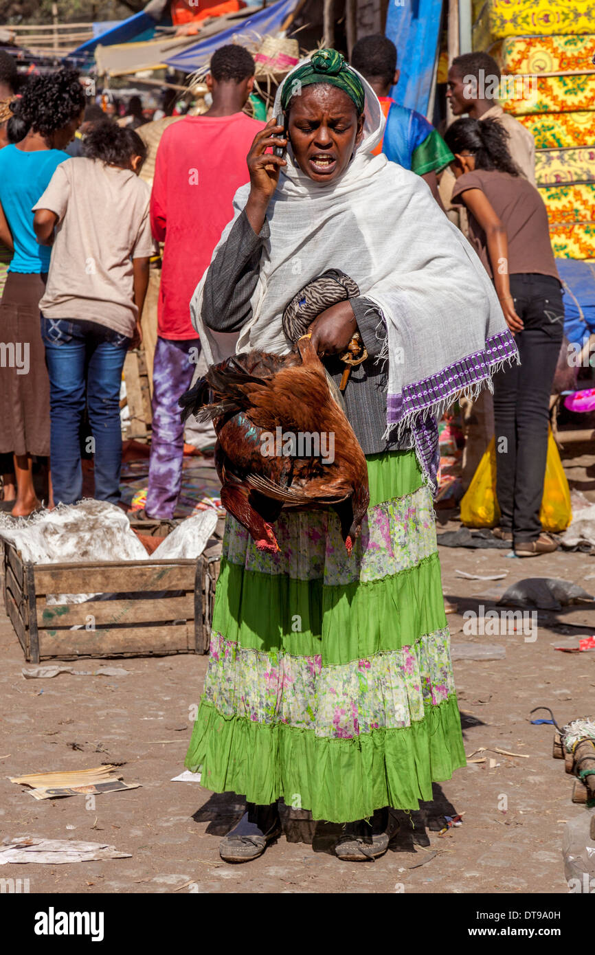 Market Day, Hawassa, Ethiopia - Stock Image