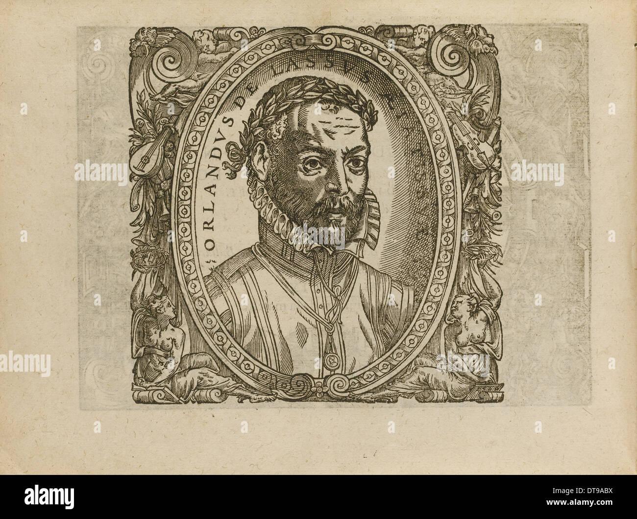 Portrait of the composer Roland de Lassus (1532-1594), 1560. Artist: Anonymous - Stock Image