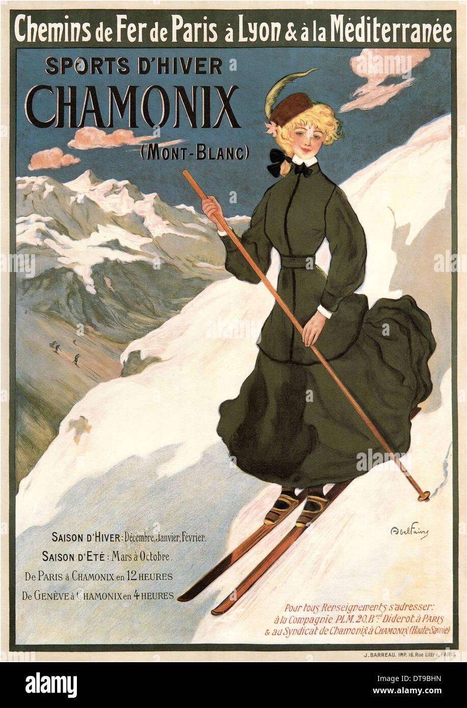 Chamonix Mont Blanc, 1905. Artist: Faivre, Abel (1853-1945) - Stock Image