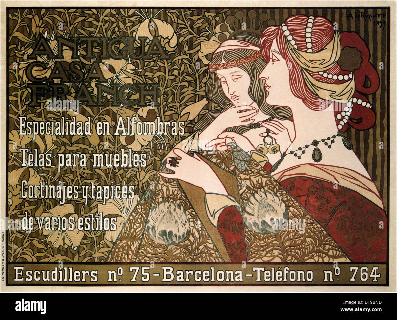 Antigua Casa Franch, 1899. Artist: Riquer Inglada, Alejandro de (1856-1920) - Stock Image