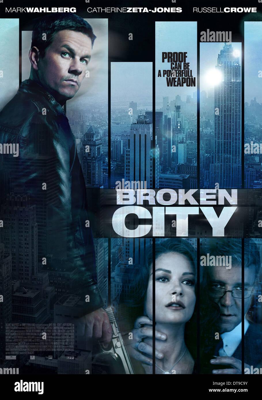 Mark Wahlberg Catherine Zeta Jones Russell Crowe Poster Broken Stock Photo Alamy