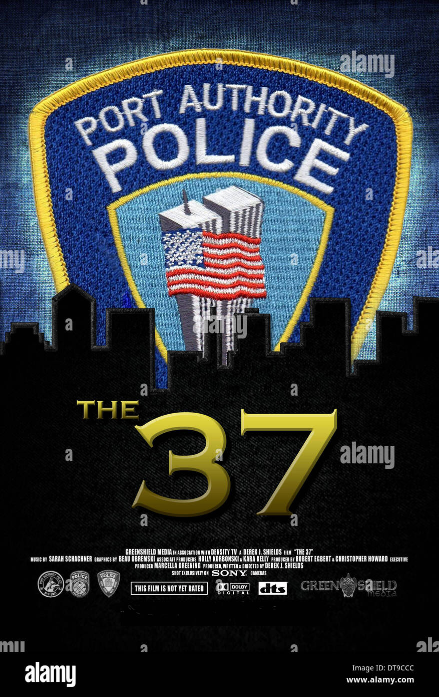 POLICE BADGE POSTER THE 37 (2013) - Stock Image