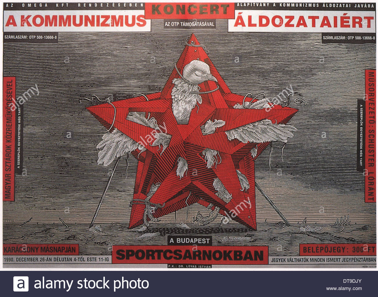 Concert for the victims of communism, 1990. Artist: Orosz, István (*1951) - Stock Image