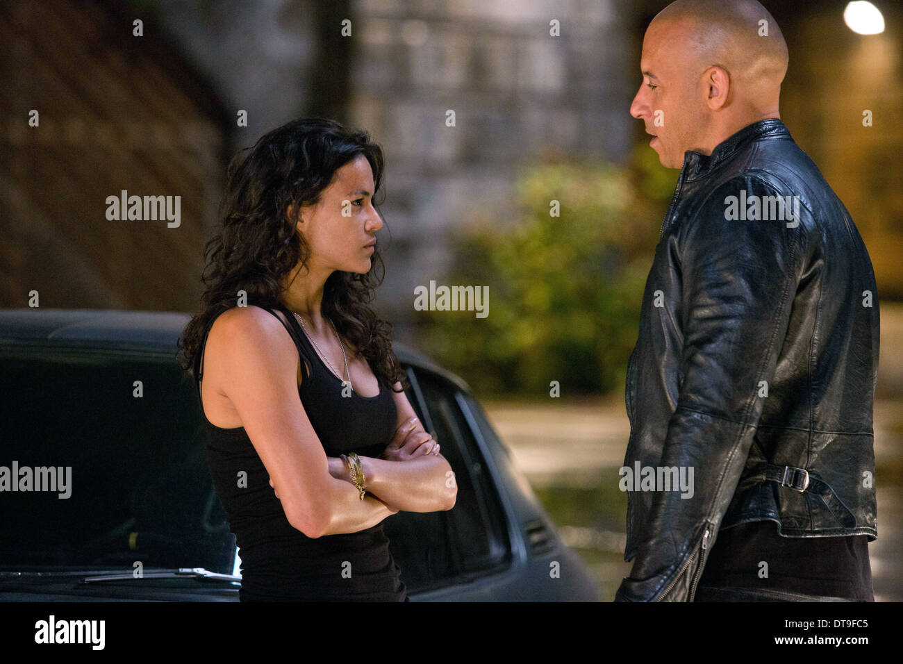 MICHELLE RODRIGUEZ & VIN DIESEL THE FAST AND THE FURIOUS 6 (2013) Stock Photo