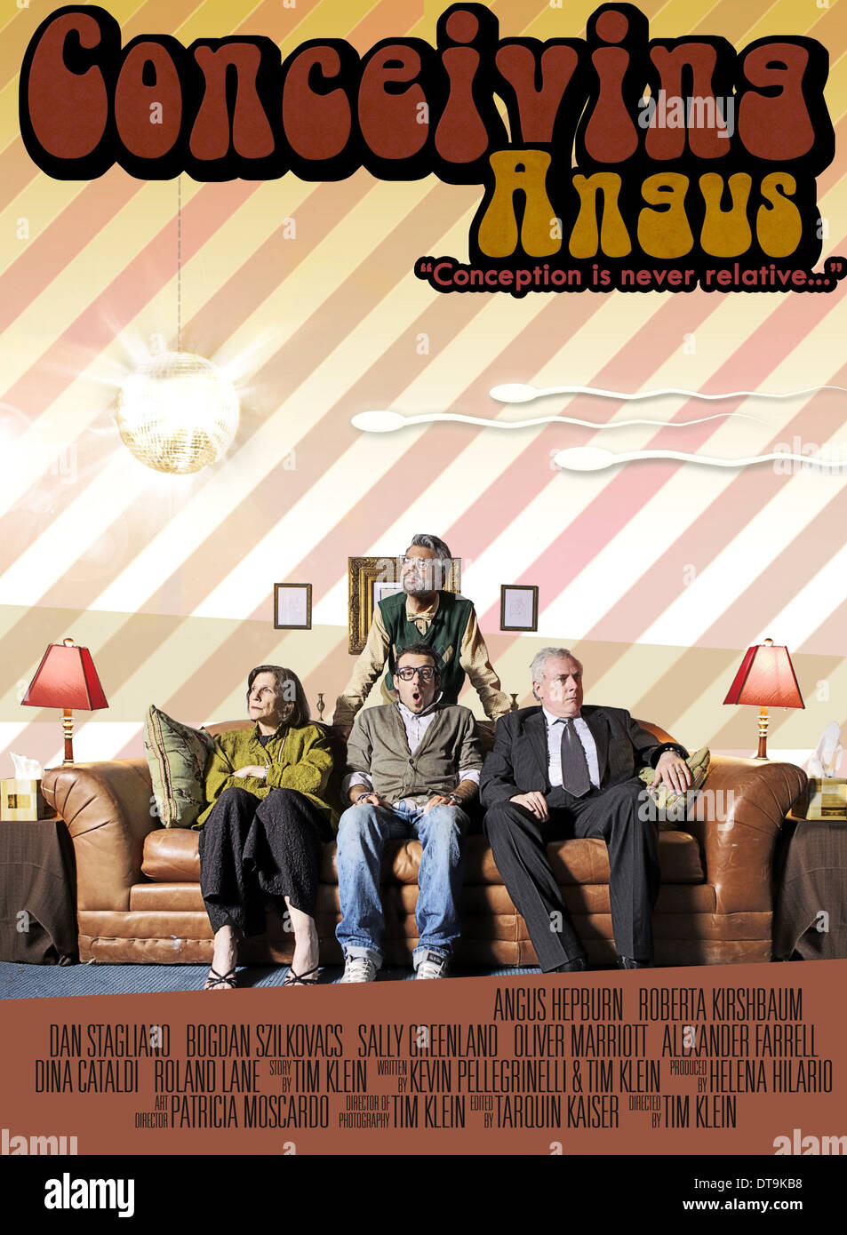 MOVIE POSTER CONCEIVING ANGUS (2013) - Stock Image