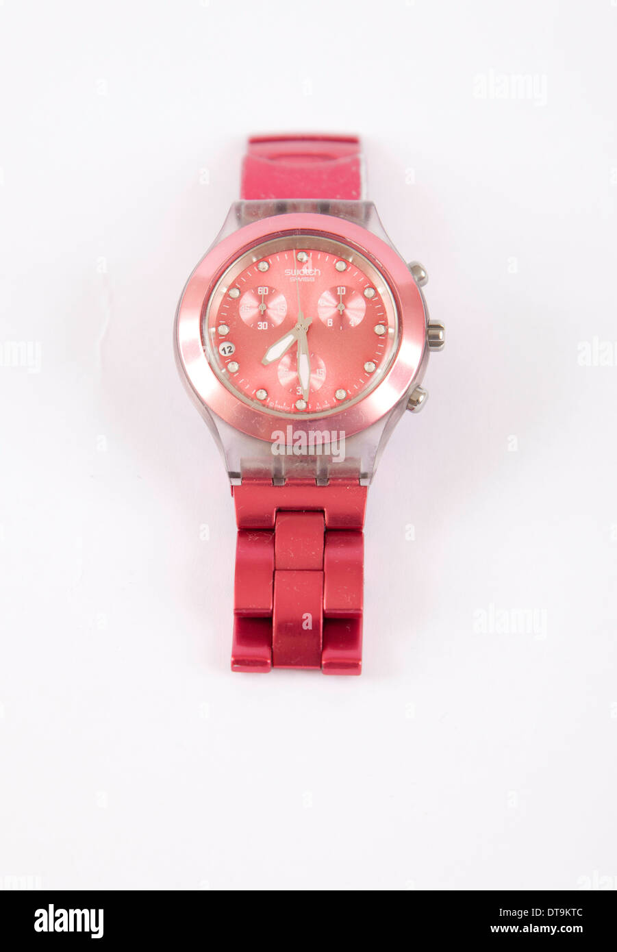 Swatch Full Blooded Raspberry Red SVCK4050AG Unisex Wrist Watch - Stock Image
