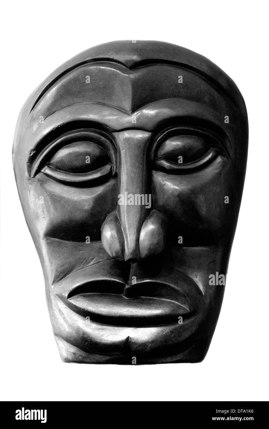 African Art sculptured face - Stock Image
