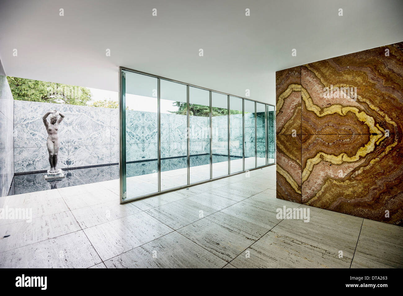barcelona pavilion architect ludwig mies van der rohe for the 1929 stock photo 66604107 alamy. Black Bedroom Furniture Sets. Home Design Ideas