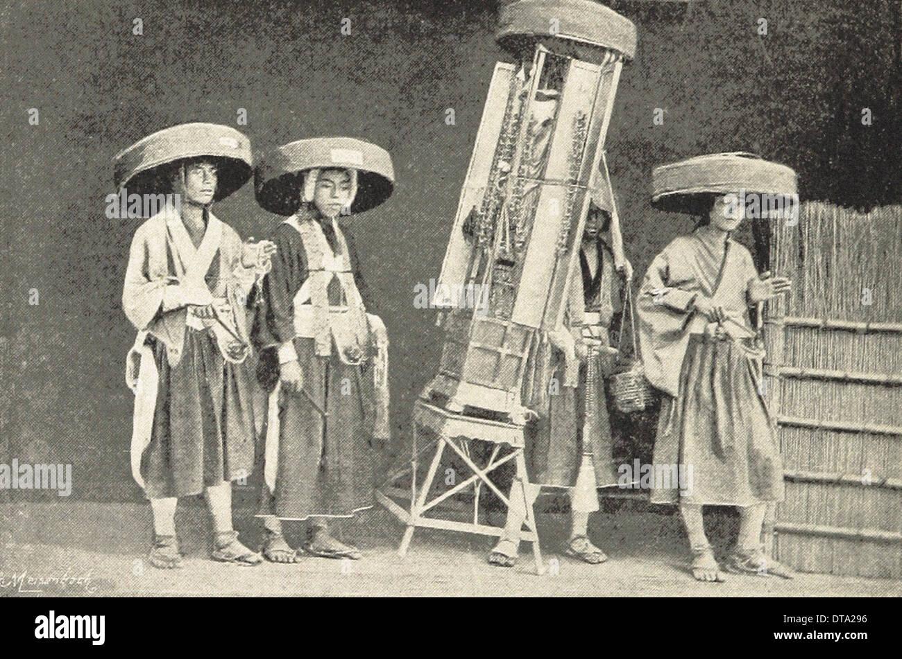 Japanese Pilgrims - British photography XIX th century - Stock Image