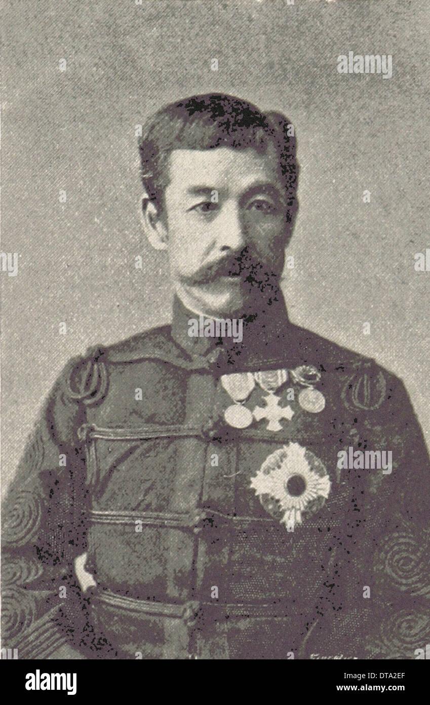 Japan : H.I.H Prince Kita Shirakawa - British photography XIX th century - Stock Image