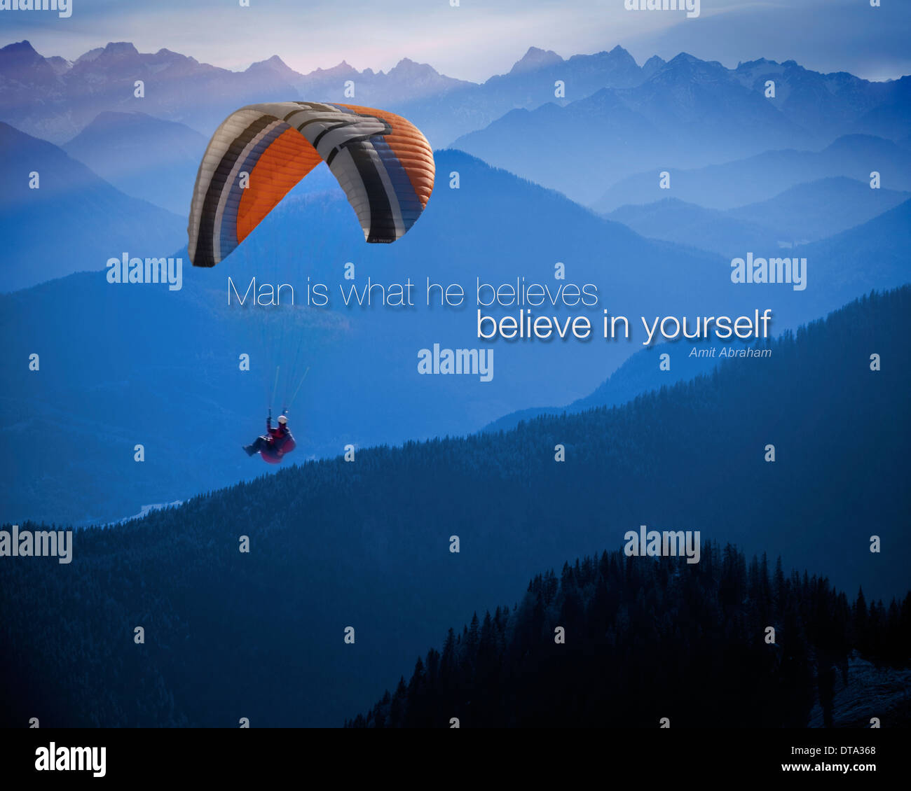 MOTIVATION: Believe in Yourself - Stock Image