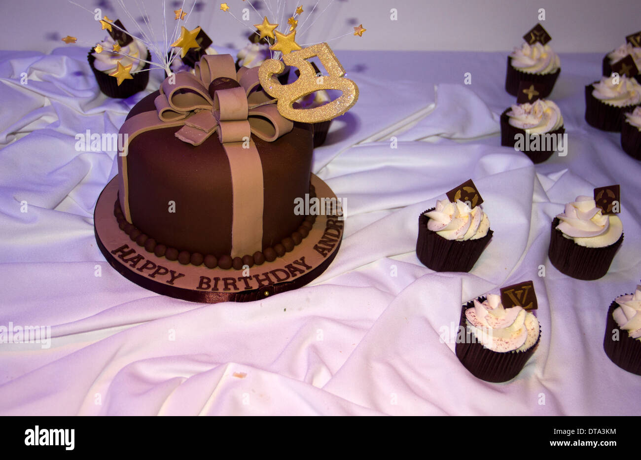 50th Cake - Stock Image