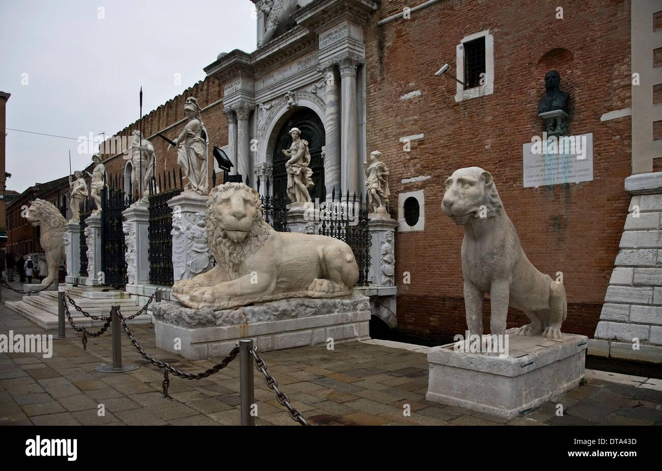 Venedig, Venezia, Arsenal, Portaltor Ingresso di Terra - Stock Image