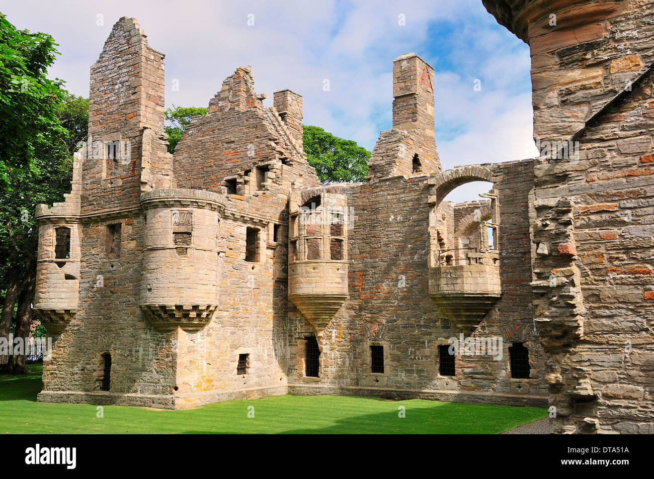Ruins of the Bishop's Palace, Kirkwall, Mainland, Orkney, Scotland, United Kingdom - Stock Image