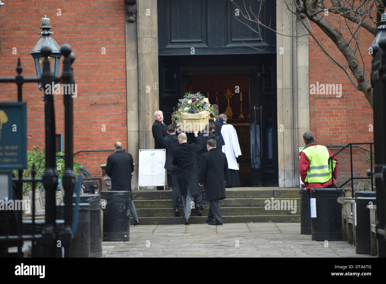 London UK, 13th Feb 2014 : Roger Lloyd-Pack as Trigger in Only Fools and Horses memorial service at the Actors' Stock Photo
