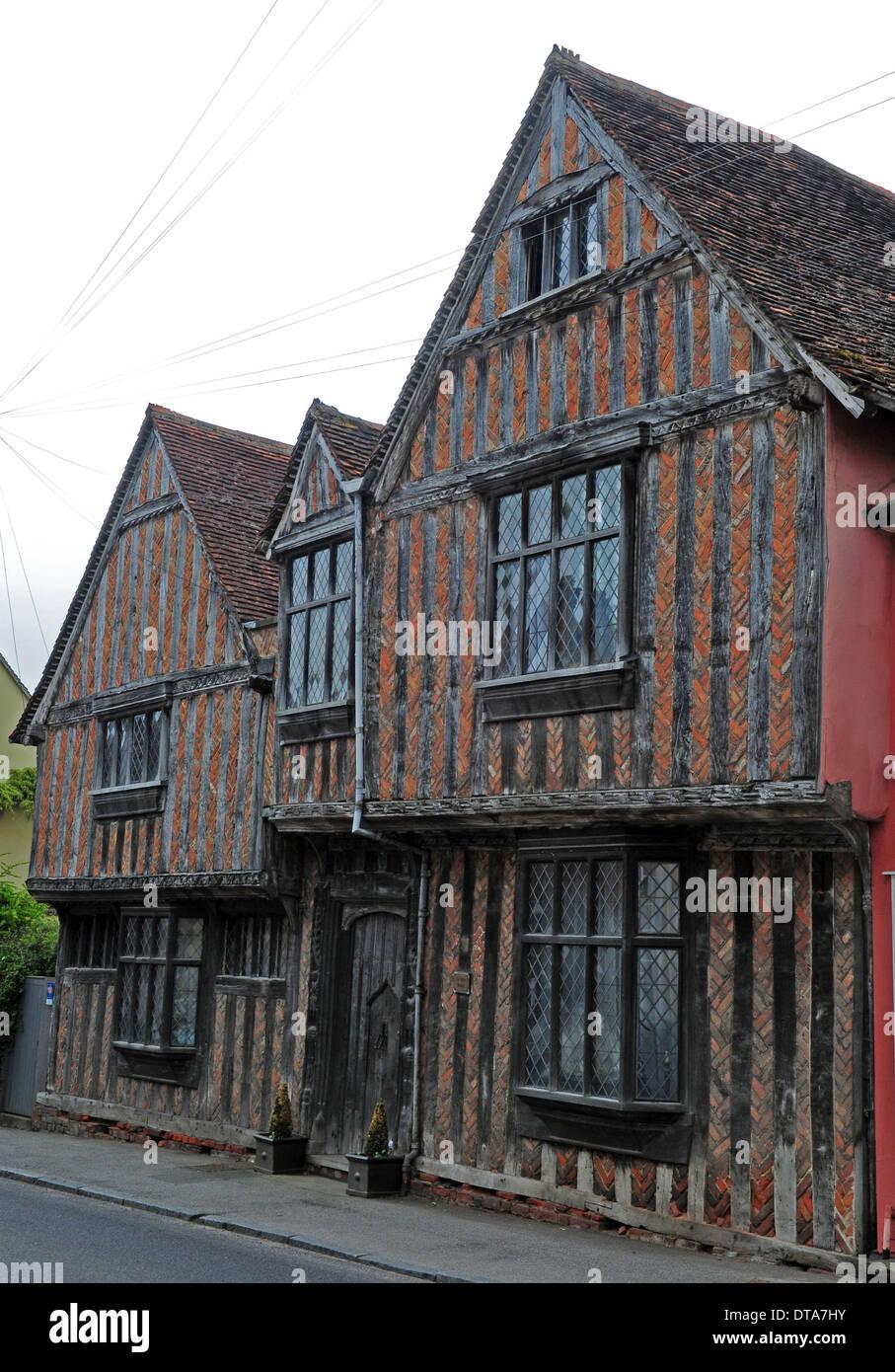 De Vere House Lavenham Suffolk - Stock Image