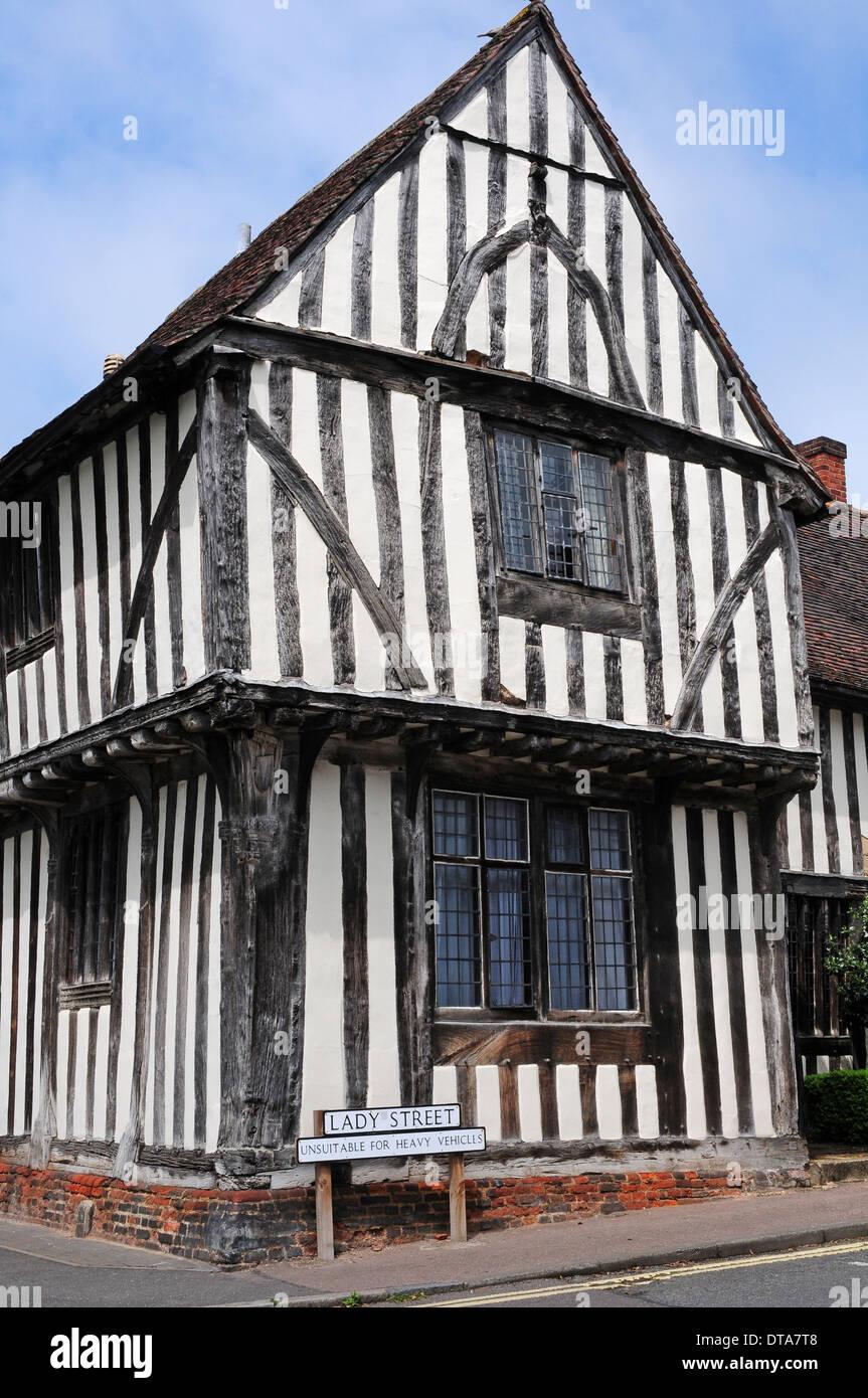 The Old Wool Hall, Lady Street, Lavenham, Suffolk. - Stock Image