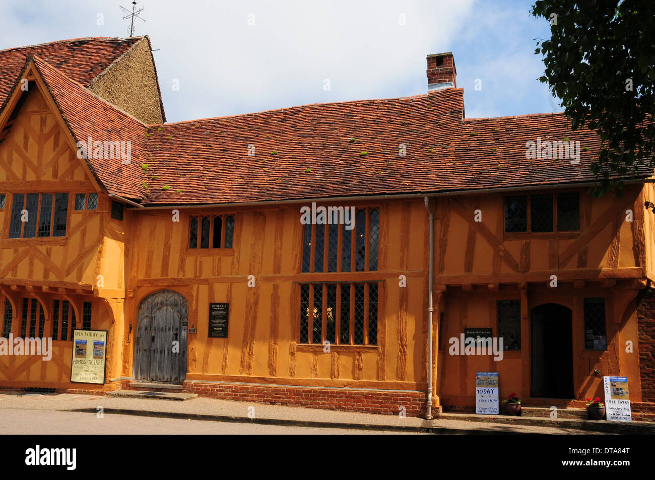 The Little Hall, now a museum, Lavenham, Suffolk. - Stock Image