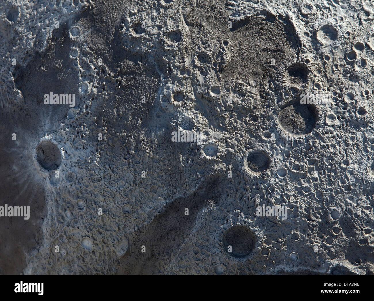 Mond, Erdmond Modell - Stock Image