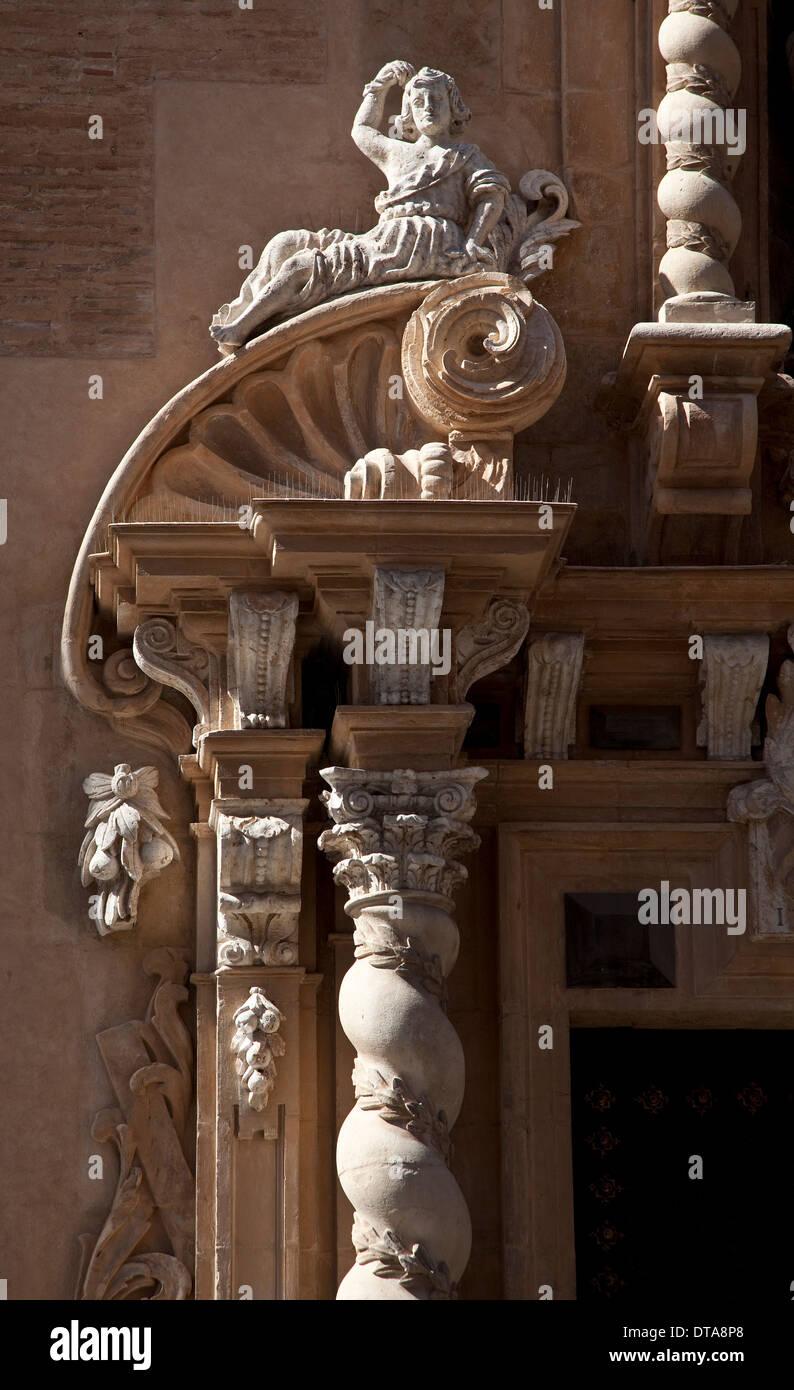 Valencia, Kirche San Juan de la Cruz ( ODER inschr 1686 St Andreas) - Stock Image