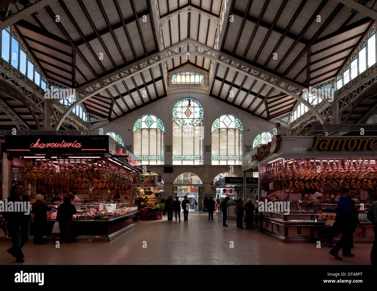 Valencia, Mercado Central Stock Photo