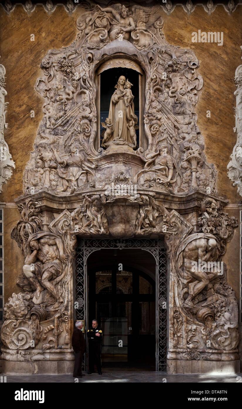 Valencia, Palacio del Marquis de Dos Aguas - Stock Image