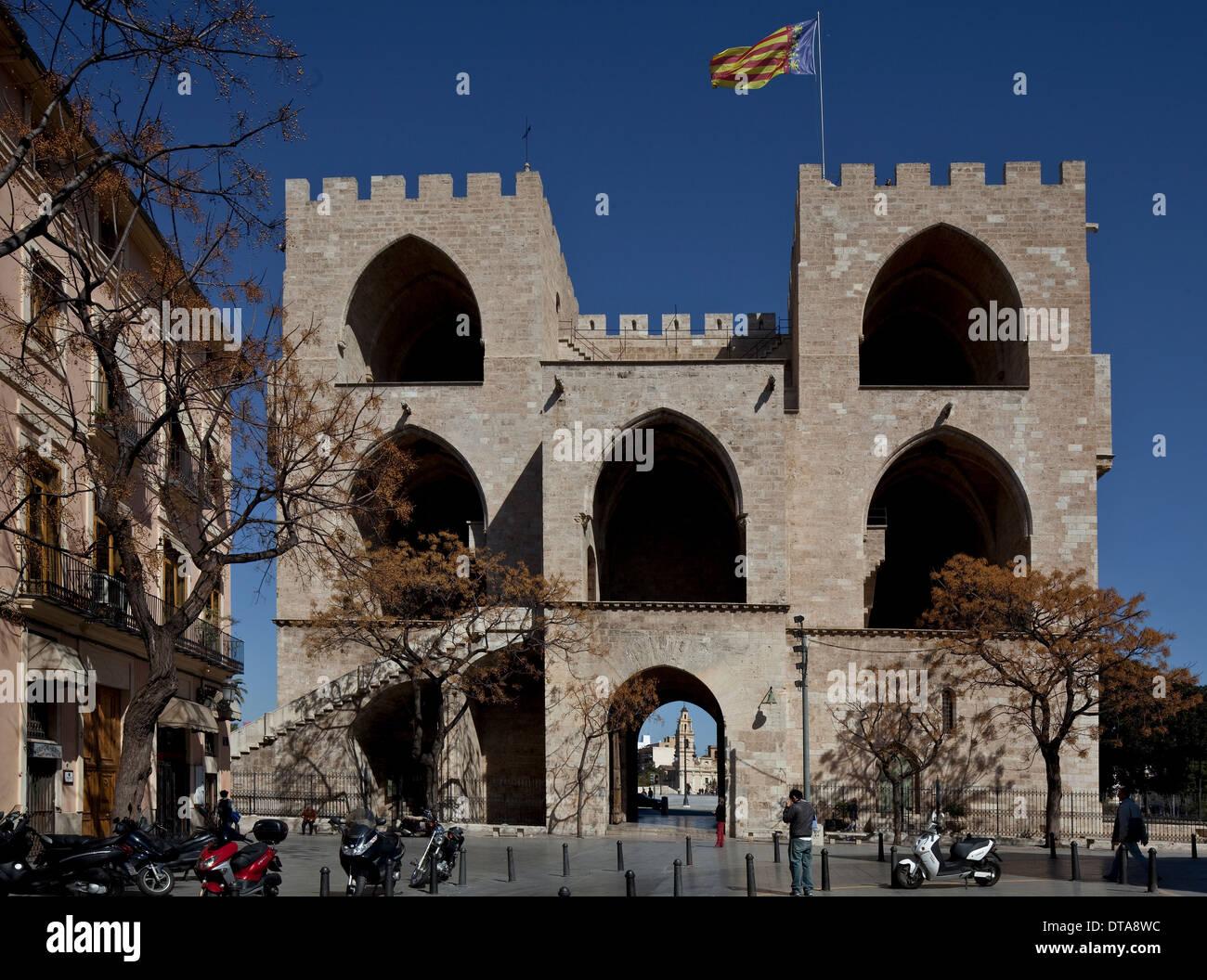 Valencia, Stadtbefestigung - Stock Image